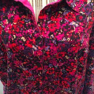 CATHERINES Pink,Red,Black Flower Top